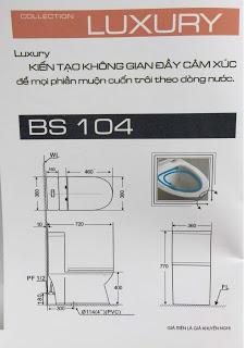 BỒN CẦU KHỐI BASICS BF 3104 CHÍNH HÃNG