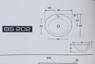 Lavabo âm bàn Basic BF-2202