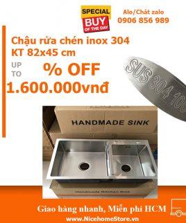 chậu rửa chén inox 304 KT 82x45