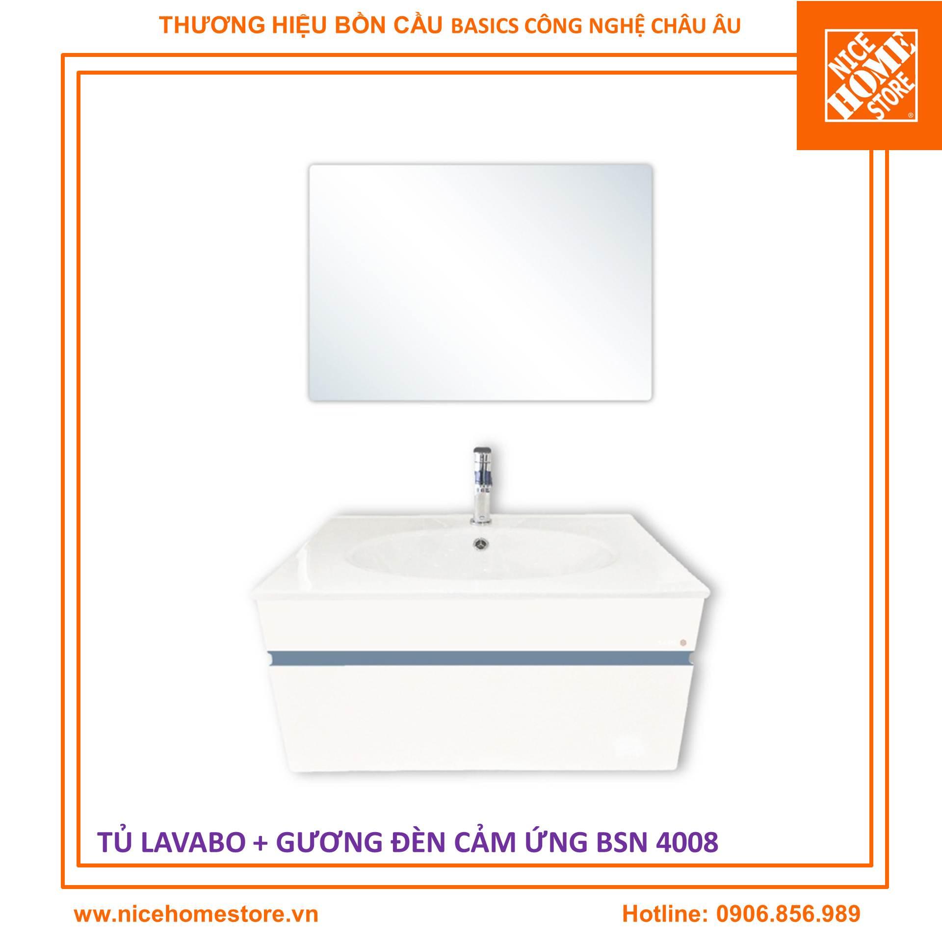 Basics BSN 4008 lavabo tủ gương đèncảm ứng