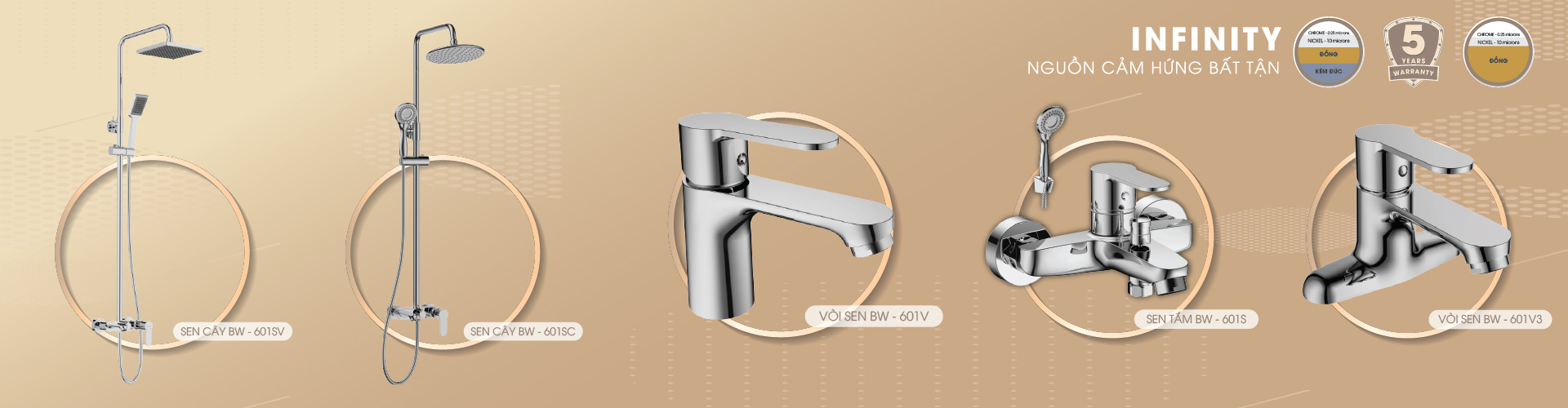 vòi lavabo basic bw 601v