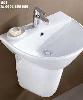 lavabo chân treo bs 501