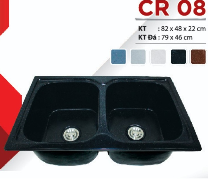 Chậu rửa chén đá nhân tạo CR-08
