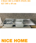 chậu rửa chén inox 201 KT 105 x 45